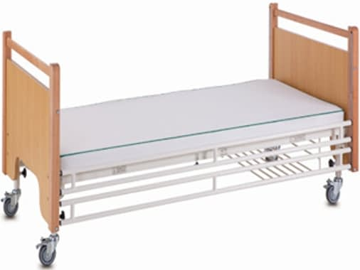 3 Function Manual Care Bed - Steel Siderails