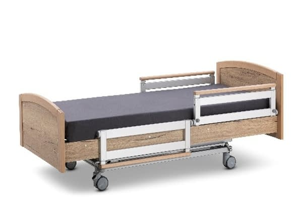 3 Function Electrical Care Bed - Split function alluminium siderails